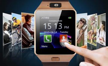 Smart Watch Τηλέφωνο με Οθόνη Αφής, SIM & Camera