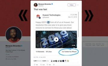 Νόμιζαν ότι τους κάνουν πλάκα! Η Huawei έστειλε τις ευχές της για το 2019 με… iPhone