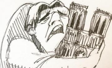 Ο Κουασιμόδος αγκαλιάζει σπαρακτικά την Παναγία των Παρισίων-Η ιστορία του viral σκίτσου