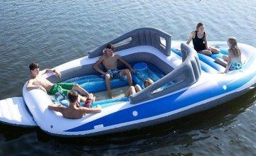 Φουσκωτή βάρκα: Φουσκώνει μόνη της και χωράει 6 άτομα