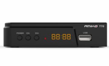 Επίγειος Ψηφιακός Αποκωδικοποιητής DVB-T2 AMIKO T70