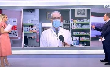 Έξαλλος με τον ΣΚΑΪ ο Κώστας Λουράντος: Ντροπή σας, φύγετε από το φαρμακείο μου