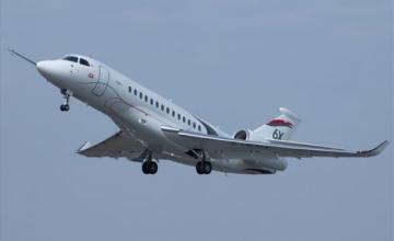 Παρθενική πτήση για το Falcon 6X της Dassault